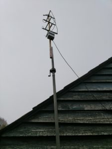 QFH Antenna in place